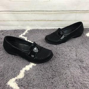Dansko Oksana Black Polka Dot Flats Size 39